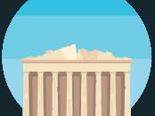 Akropolis er en af de største seværdigheder i Athen
